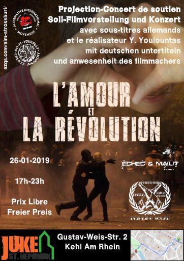 Projection-Concert de soutien : L'Amour & la Révolution @ Juke Kehl St Nepomuk