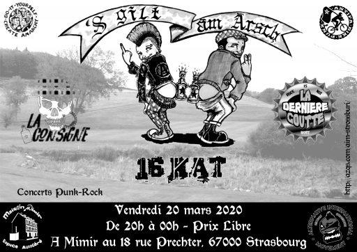 Concert : 'S gilt àm Àrsch ! // Punk Rock @ Maison Mimir