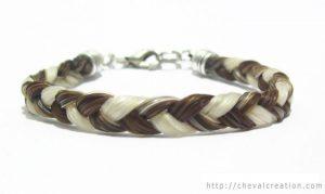 Bracelet simple en crins 1 tresses avec 3 brins
