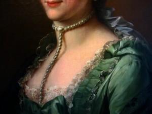 Johann Heinrich Tischbein, 1751-1829, Portrait de Madame de Schönfeld, née Schwartzenberg, dét., réserves du musée des Beaux-Arts de Strasbourg