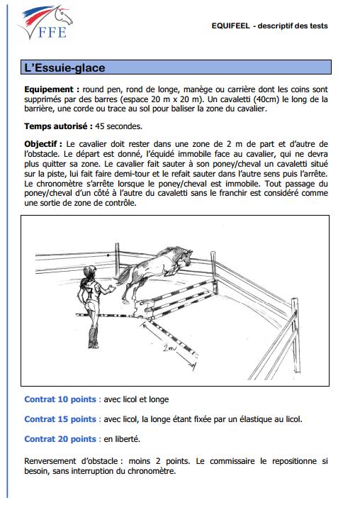 Règlement du test Equifeel - l'essuie-glace