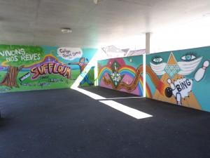 Les fresques réalisées avec les élèves de 3ème du collège Albert Camus de Soufflenheim en 2014 et 2015.