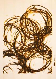 Sérigraphie, à partir d'une peinture à l'aérosol, 75 x 110 cm