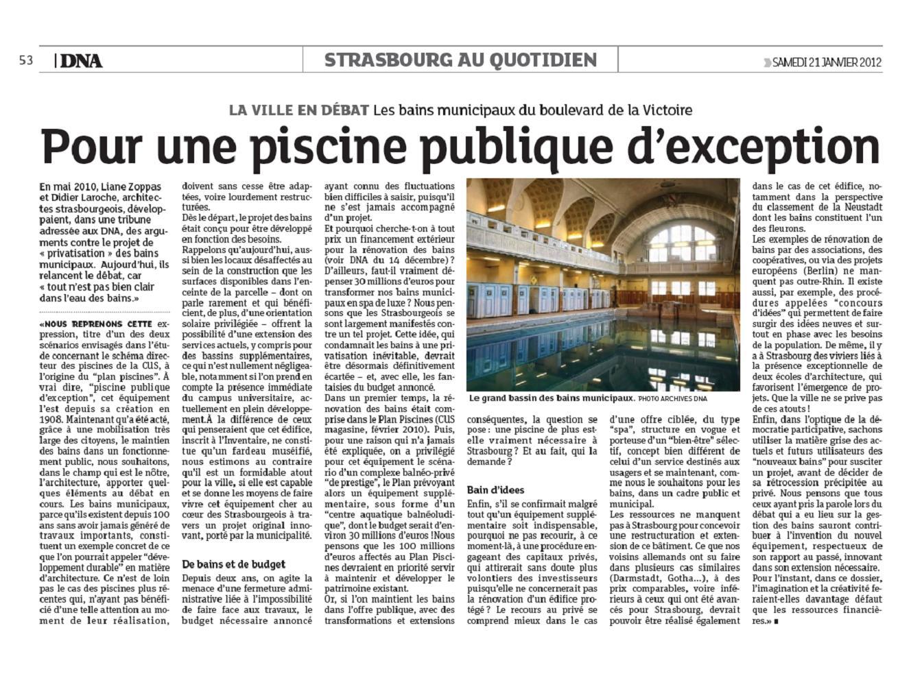DNA Pour une piscine publique d exception DL-LZ