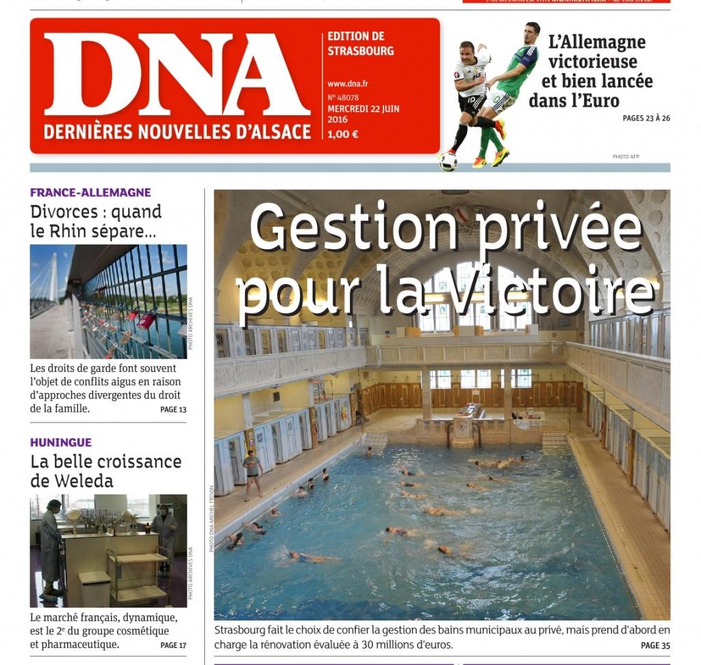 DNA 22 juin 2016_les Bains à la une - détail
